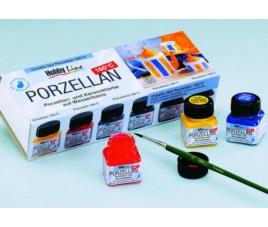 Zestaw farb do porcelany - 6 kolorów