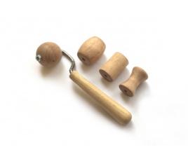 Zestaw wałeczków / gładzików drewnianych nr 1