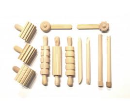 Zestaw narzędzi drewnianych kpl 12 szt - 736