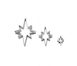 Zestaw wykrawaczy gwiazdy 8 ramienne 3 szt 746
