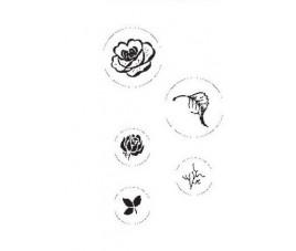 Zestaw stempli róże 5 szt