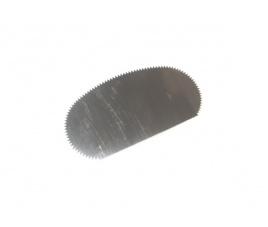 Cyklina stalowa półowalna z ząbkami 10 x 5 cm