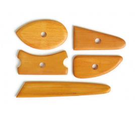 Zestaw narzędzi drewnianych 5 sztuk