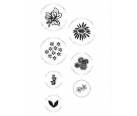 Zestaw stempli kwiaty 7 szt