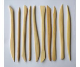 Zestaw szpatułek drewnianych 15 cm kpl 10 szt.