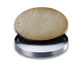 Aluminiowy toczek z bolcami do koła RK-3E + drewniana nakładka